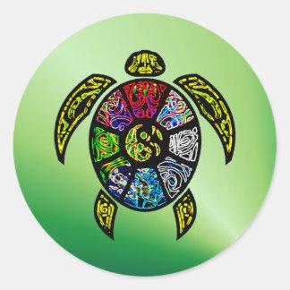 Turtle Ba-Gua Classic Round Sticker