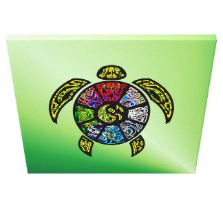 Turtle Ba-Gua wrapped canvas print