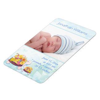 Turtle Baby Boy Photo Birth Announcement Magnet