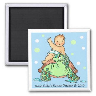 Turtle Baby Shower Girl Magnet