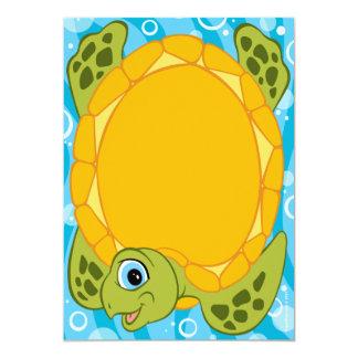 "Turtle Baby Shower Invitations Boy 5"" X 7"" Invitation Card"