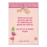"TURTLE Baby Shower Thank You 3.5""x5"" (FLAT style) 3.5x5 Paper Invitation Card"
