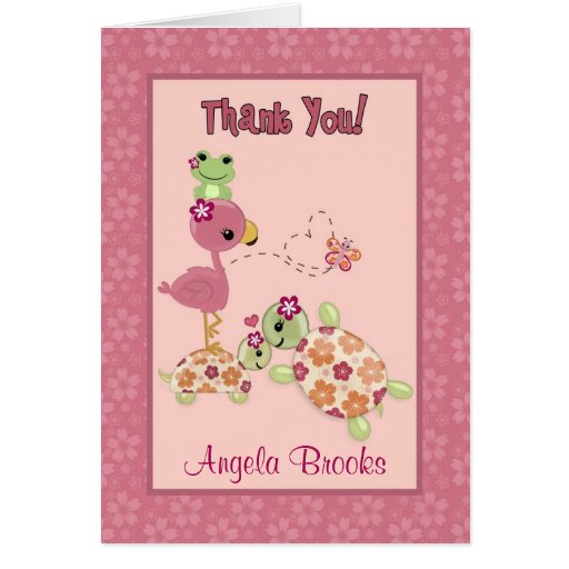 TURTLE Baby Shower Thank You Card (FOLDING) OUP