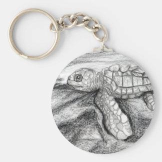Turtle Basic Round Button Keychain