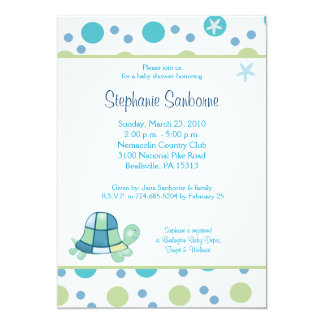 Turtle Bay 5x7 Trendy Mod Dot Baby Shower Invite