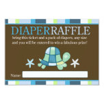 Turtle Bay Baby Shower Diaper Raffle Card