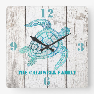 Turtle Beach House Wood Look Wall Clock