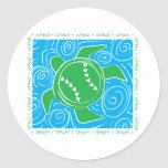Turtle Beach Softball Classic Round Sticker
