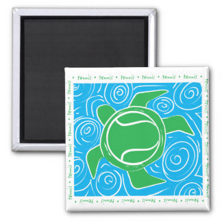Turtle Beach Tennis 2 Inch Square Magnet