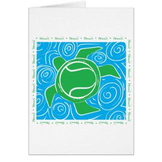 Turtle Beach Tennis Greeting Cards