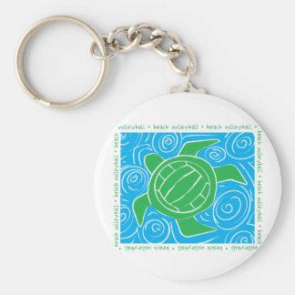 Turtle Beach Volleyball Basic Round Button Keychain