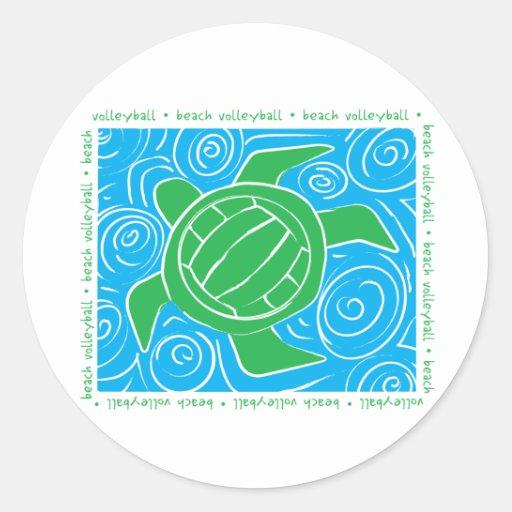 Turtle Beach Volleyball Stickers