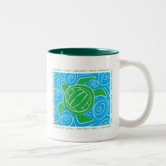 Turtle Beach Volleyball Two-Tone Coffee Mug