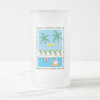 Turtle Beaches - Florida's Gulf Coast Frosted Glass Beer Mug