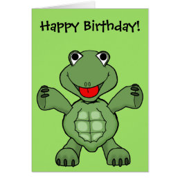 Turtle cards greeting photo cards zazzle turtle birthday card bookmarktalkfo Images