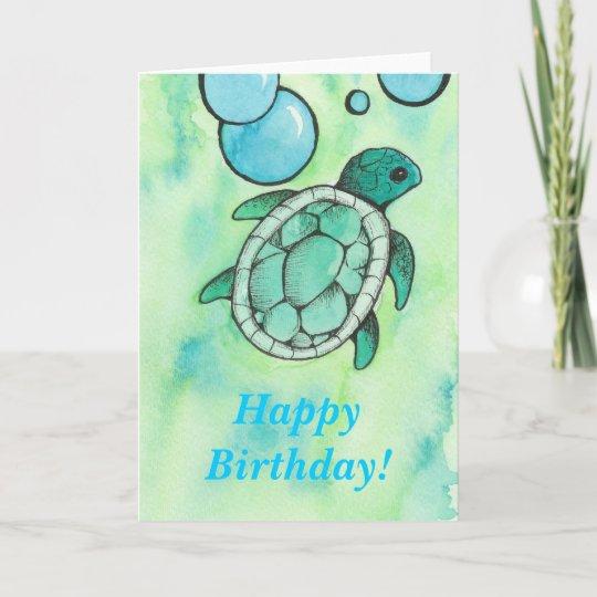 Turtle Birthday Card Zazzle