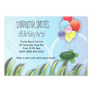 Sea turtle birthday invitations zazzle turtle birthday invitation filmwisefo