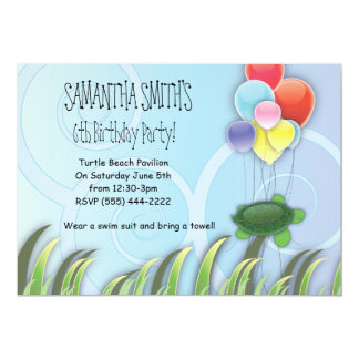 Turtle Birthday Invitation