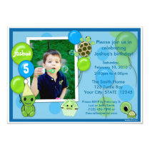 Turtle Birthday Invitation ADORABLE