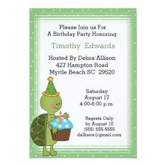 Turtle Birthday Party Invitation