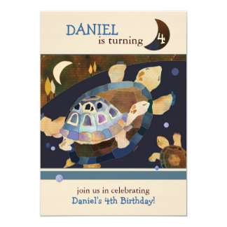 Turtle Birthday Party Invitations for Kids