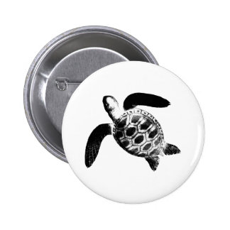 Turtle Black jGibney The MUSEUM Zazzle Gifts Button