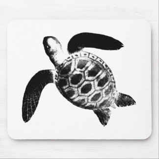 Turtle Black The MUSEUM Zazzle Gifts Mouse Pad