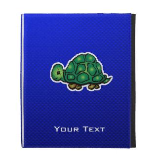 Turtle; Blue iPad Folio Covers