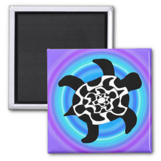 Turtle - Blue Purple Ripple - magnet