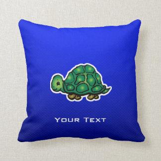 Turtle; Blue Throw Pillow