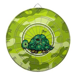 Turtle; bright green camo, camouflage dartboards