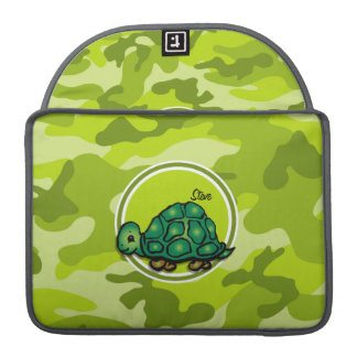 Turtle; bright green camo, camouflage sleeve for MacBook pro