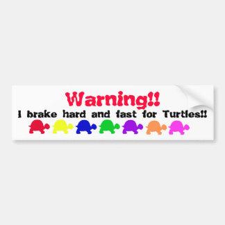 Turtle bumper sticker (colorful)