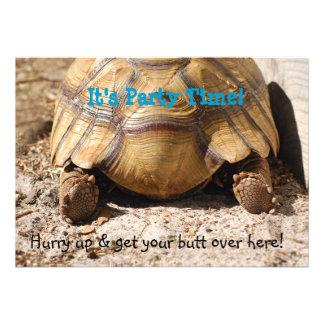 Turtle Butt Design Custom Invite