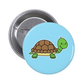 Turtle button blue
