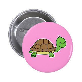 Turtle button pink