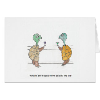 Turtle Cartoon Anniversary Card