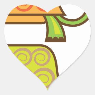 Turtle cartoon heart sticker