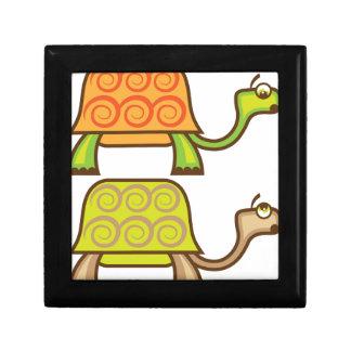 Turtle cartoon jewelry box