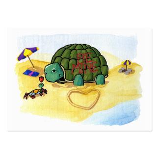Turtle Casanova Mini-Cards Large Business Card