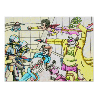 Turtle Cops V Sci-Fi Team Poster