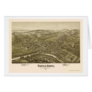 Turtle Creek, PA Panoramic Map - 1897 Card