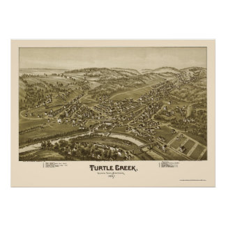 Turtle Creek, PA Panoramic Map - 1897 Poster