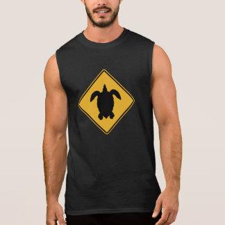 Turtle Crossing 1 Traffic Sign Hawaii USA Sleeveless T-shirt