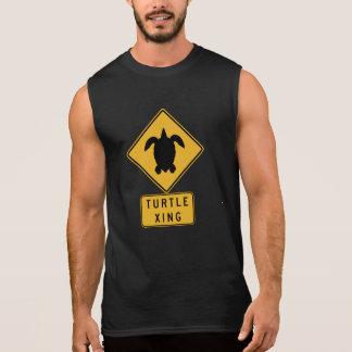 Turtle Crossing 2 Traffic Sign Hawaii USA Sleeveless Shirts