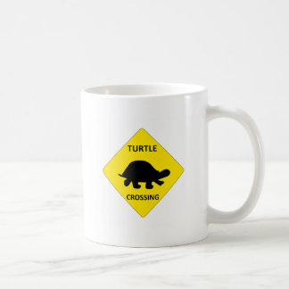 Turtle crossing sign coffee mug