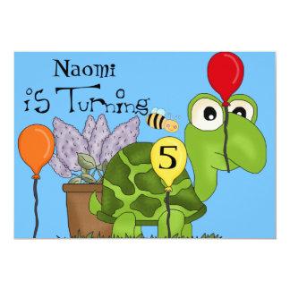 Turtle Custom Birthday Invitation