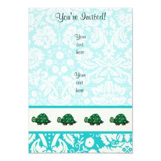 "Turtle; Cute 5"" X 7"" Invitation Card"