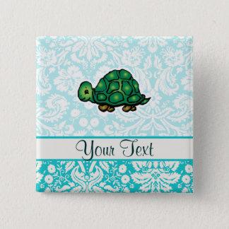 Turtle; Cute Pinback Button