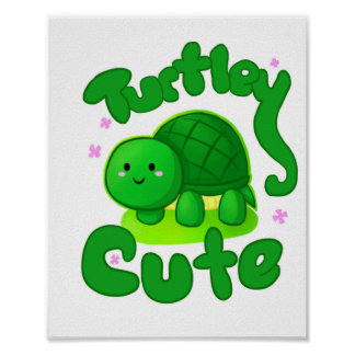 Turtle Cute Poster